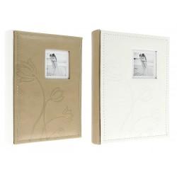 Album KD6850 Flower - 15 x 21 cm, szyty, z miejscem na opis