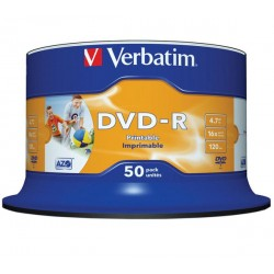 DVD-R VERBATIM AZO Printable 50 Cake