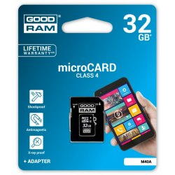 Karta SD micro 32 GB Goodram + adapter