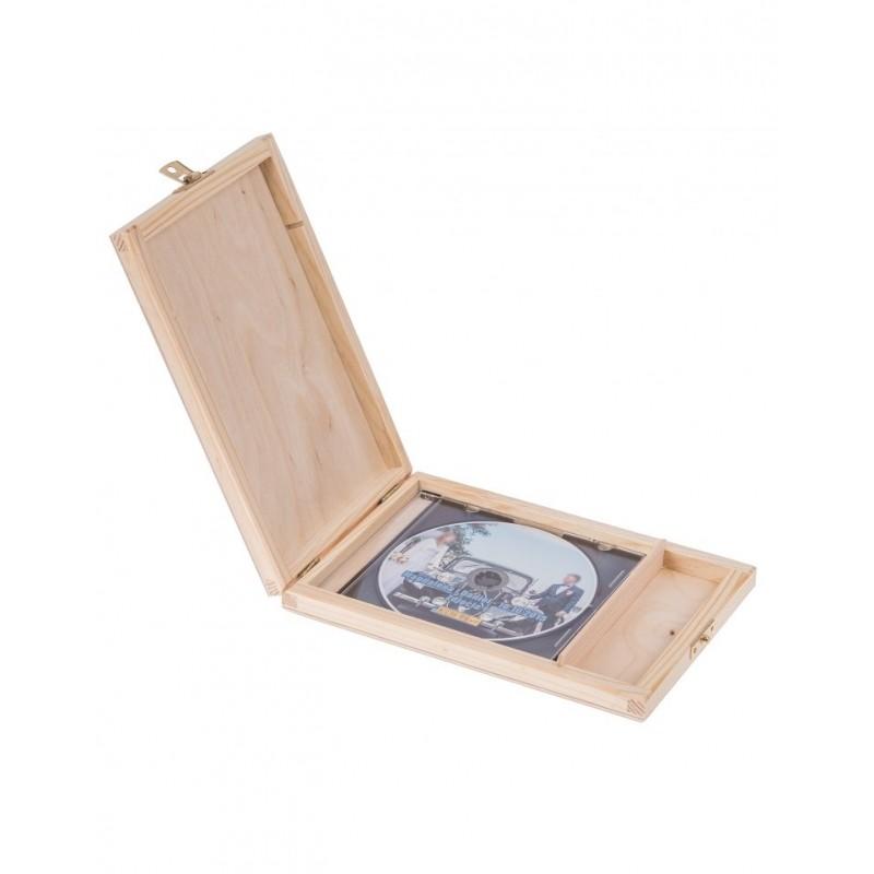 Pudełko DVD drewniane PD19