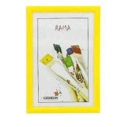 Ramka 10 x 15 cm plastik żółta