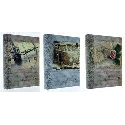 Album BB46200 Vintage New 10x15 cm 200 zdj. szyty z miejscem na opis