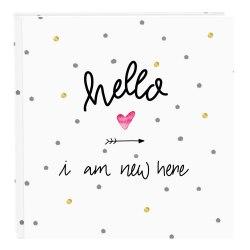 Album Goldbuch 27319 Hello I am new here 60 str. pergaminowy białe strony