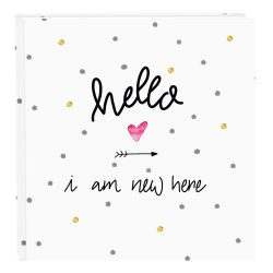 Goldbuch 27319 Hello I am new here 60 white parchment pages