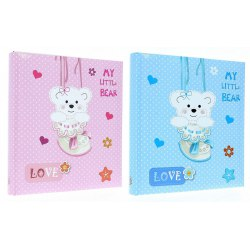 DBCL30 Teddy Bear 60 white parchment pages