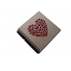 DBCSS30 Wood Heart 60 black parchment pages