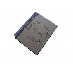 DBCS30 Wood Wedding 60 black parchment pages