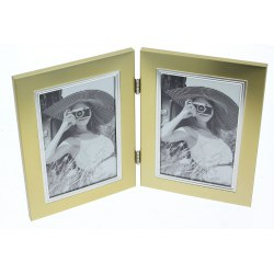 Photo Frame 10x15 cm x2 metal P104/2V