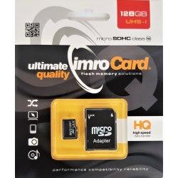 SD Micro + adapt 128 GB Imro UHS-I Class 10