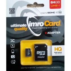 SD Micro + adapt 16 GB Imro UHS-I Class 10