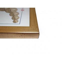 Ramka 15 x 21 cm płaska złota