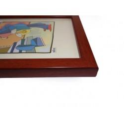Ramka 15 x 21 cm płaska mahoń