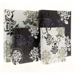 B6850 Black&White - 15x21 cm, sewed, with space for description
